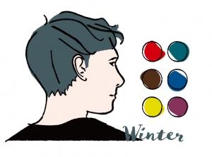 【メンズパーソナルカラー】男性向けウィンター(ブルべ冬)タイプの似合う色とコーディネート